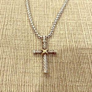 David Yurman men's cross necklace
